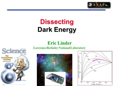 1 1 Dissecting Dark Energy Eric Linder Lawrence Berkeley National Laboratory.