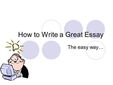 How To Write An Essay Fast And Easy