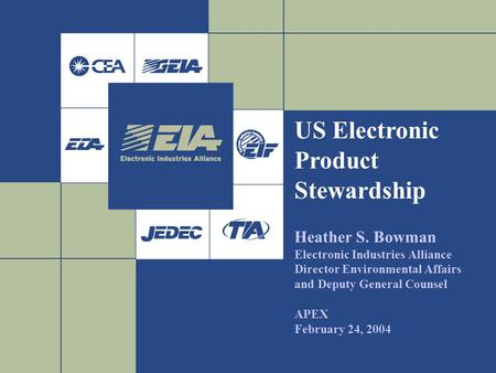 US Electronic Product Stewardship