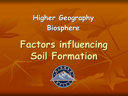 Factors influencing Soil Formation