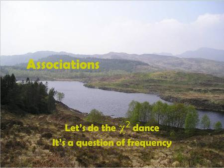 Associations Let's do the  2  dance It's a question of frequency.