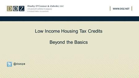 Low Income Housing Tax Credits Beyond the