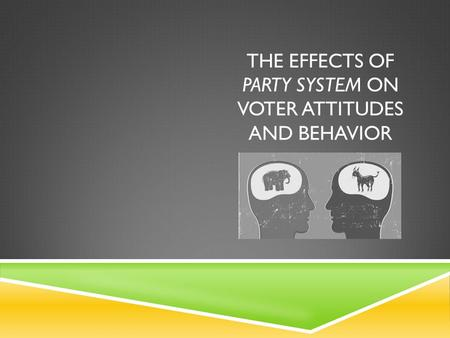 THE EFFECTS OF PARTY SYSTEM ON VOTER ATTITUDES AND BEHAVIOR.