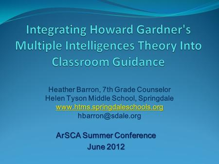 ArSCA Summer Conference June 2012