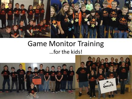 Game Monitor Training …for the kids!. MPI History 36 th year, 1 st tournament was in Saginaw, Michigan Now in Michigan, Indiana, and Texas Late 80's started.