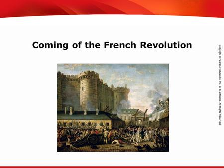 TEKS 8C: Calculate percent composition and empirical and molecular formulas. Coming of the French Revolution.