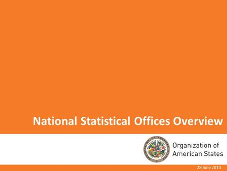 National Statistical Offices Overview 28 June 2010.