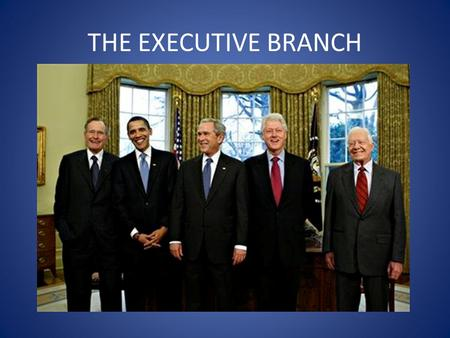 THE EXECUTIVE BRANCH. Where does the POTUS live? 1600 Pennsylvania Ave. Washington, DC.