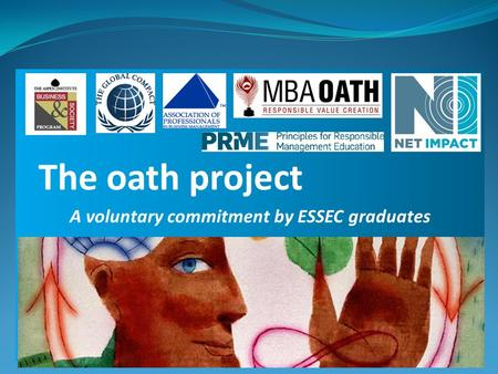 A voluntary commitment by ESSEC graduates The oath project.