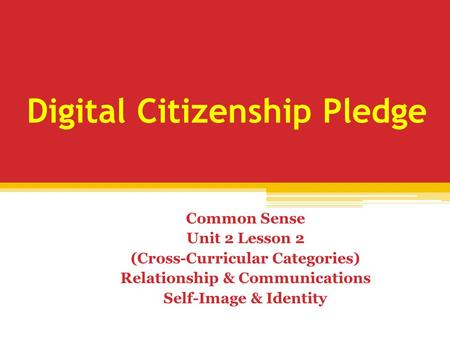 Digital Citizenship Pledge