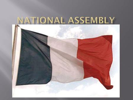  The 3 rd Estate was fed up and formed the National Assembly on June 17 th, 1789  Some members of the 1 st and 2 nd Estates joined the National Assembly.