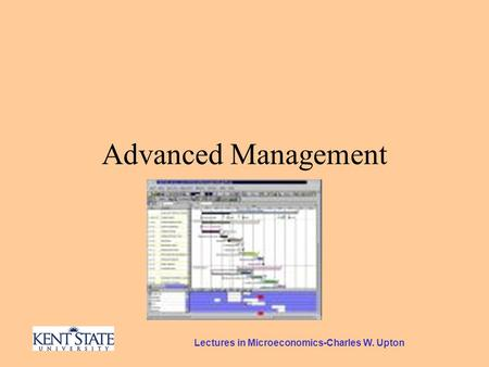 Lectures in Microeconomics-Charles W. Upton Advanced Management.
