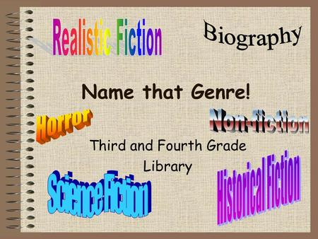 Name that Genre! Third and Fourth Grade Library. Beezus and Ramona A. Historical Fiction B. Biography C. Realistic Fiction D. Science Fiction.