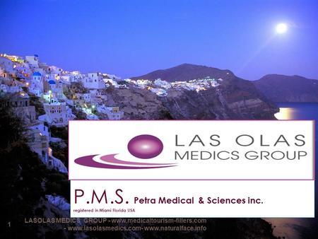 P.M.S. Petra Medical & Sciences inc. registered in Miami Florida USA