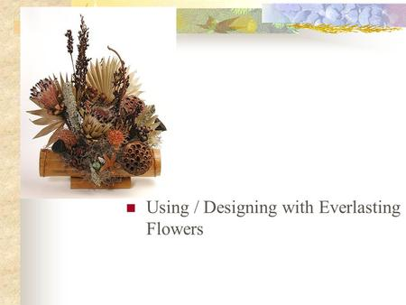 Using / Designing with Everlasting Flowers. Next Generation Science / Common Core Standards Addressed! CCSS.ELA Literacy. RST.11 ‐ 12.3 Follow precisely.