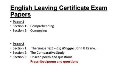 english comparative essay leaving cert