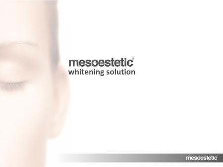 "Antiaging range MENU whitening solution. MENU Whitening solution It encapsulates and transports active substances. It releases the complex in an ""intact"""