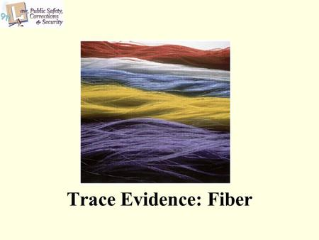 Trace Evidence: Fiber. 2 Copyright © Texas Education Agency 2011. All rights reserved. Images and other multimedia content used with permission. Copyright.