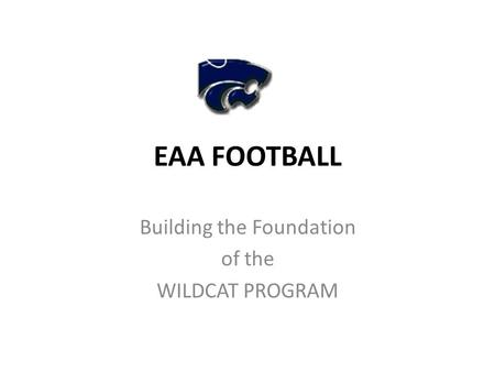 Building the Foundation of the WILDCAT PROGRAM