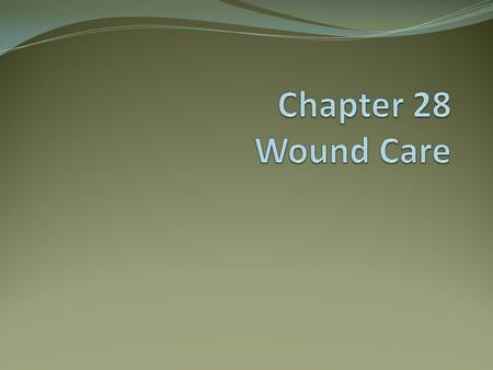 Chapter 28 Wound Care.