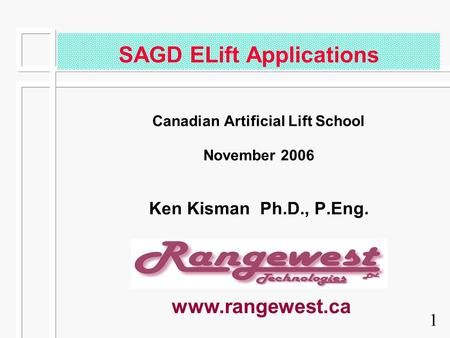SAGD ELift Applications