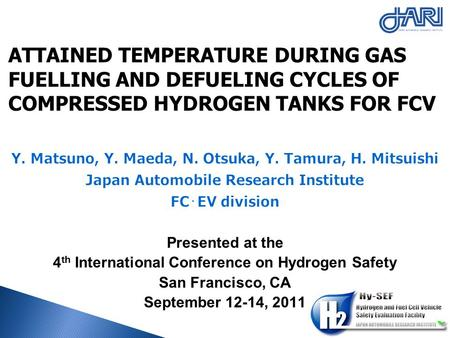 ATTAINED TEMPERATURE DURING GAS FUELLING AND DEFUELING CYCLES OF COMPRESSED HYDROGEN TANKS FOR FCV.