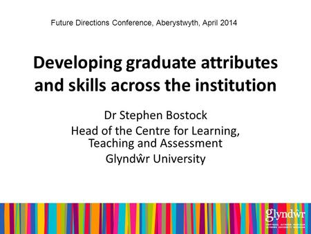Developing graduate attributes and skills across the institution