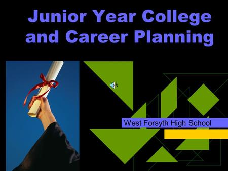 Junior Year College and Career Planning West Forsyth High School.