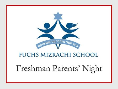 Freshman Parents' Night. Tonight's Agenda  Meet the Guidance Dept  High School Timeline  Research: Predictors of School Success  Graduation Requirements.