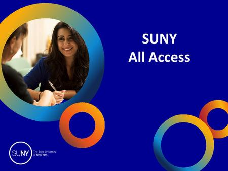 SUNY All Access.  Educational Opportunity Program Overview  EOP Admission Process  Special Admission Programs  Additional Access Programs  Special.