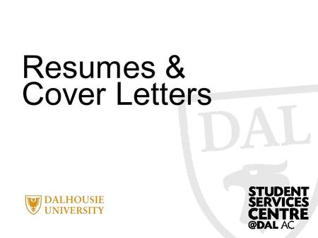 Resumes & Cover Letters. Today's objectives… Define the purpose of a resume Explore sections to include Explain how to write an action statement Discuss.