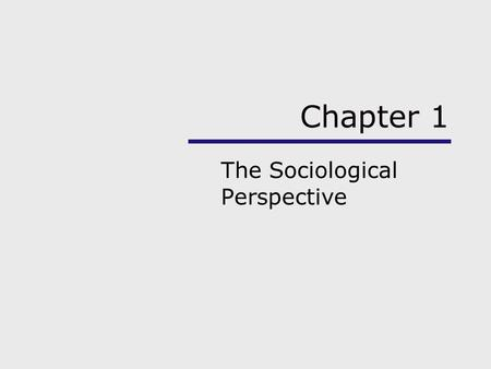 chapter 1 the sociological imagination Chapter 1 / the sociological imagination • 3 sociological imagination as our recognition of the inter- dependent relationship between who we are as individu-.