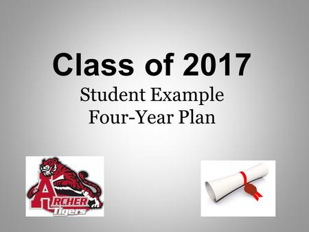 Class of 2017 Student Example Four-Year Plan. 2013-2017 Possible Schedule & Credits 2013-2014 9 th Grade Classes 1 st Sem Credit (Aug-Dec) 2 nd Sem Credit.