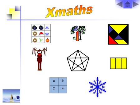 Ab 24. The Christmas Puzzle The pictures in the grid each represent a number between 1 and 10. Using the totals of each row and column, can you work out.