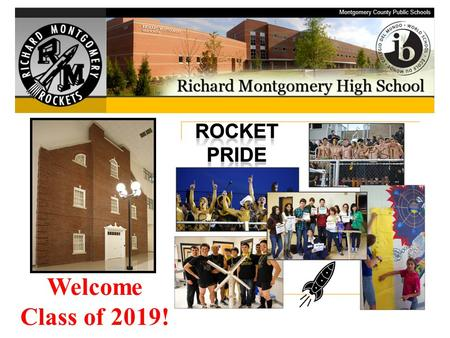 Welcome Class of 2019!. Welcome! Incoming Ninth Grade Course Registration Meeting.
