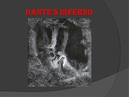 Dante's Inferno. Author Biography  Dante Alighieri Son of a nobleman Born May 1265 in Florence, Italy Received early education in Florence Attended the.