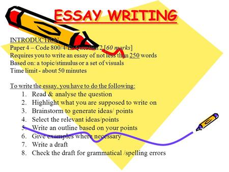 relevance essay writing