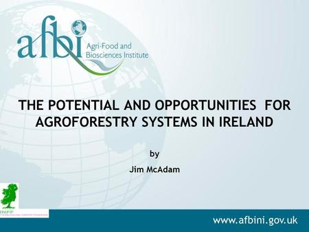 THE POTENTIAL AND OPPORTUNITIES FOR AGROFORESTRY SYSTEMS IN IRELAND by