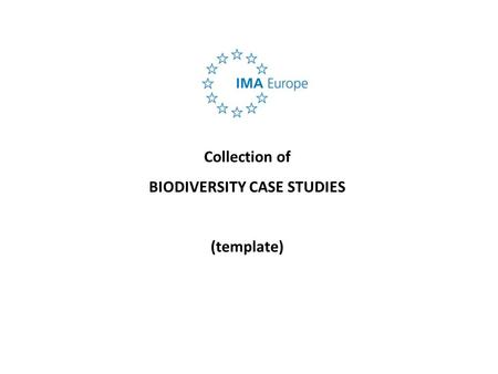 Collection of BIODIVERSITY CASE STUDIES (template)