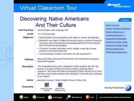 Discovering Native Americans And Their Culture Project Overview Teacher Planning & Reflection Teaching Resources, 1 Teaching Resources, 2 Assessment &