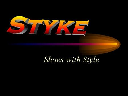 Shoes with Style. Styke – the Company A Major player in Premium Shoes Two manufacturing units in Gurgaon 12% Market Share in Formal Shoes 19% Market Share.
