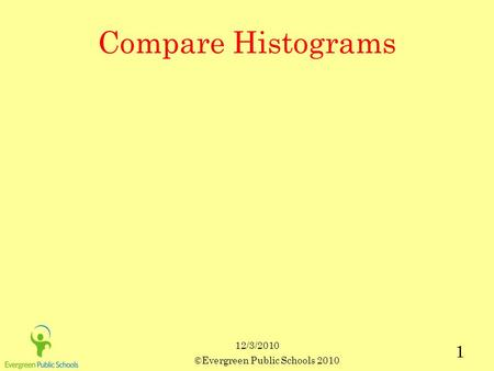 12/3/2010 ©Evergreen Public Schools 2010 1 Compare Histograms.