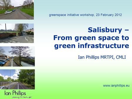 Salisbury – From green space to green infrastructure