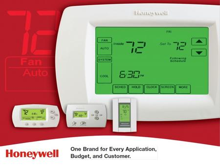 2HONEYWELL - CONFIDENTIAL File Number Why Honeywell? -No 1 Choice of home owners -Easy to use -Built to last Better Products Mean Better Business -Quality.