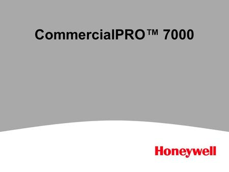 CommercialPRO™ 7000. 2 CommercialPRO 7000 Introduction Competitively priced that in most cases beats the competition Key features - Sleek design - Intuitive.