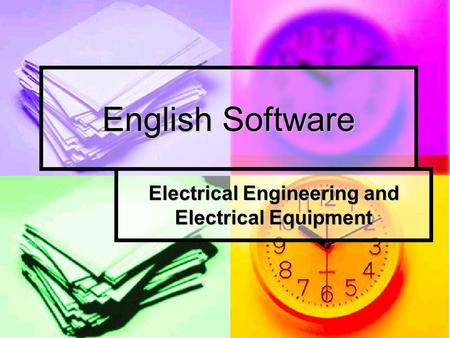 English Software Electrical Engineering and Electrical Equipment.