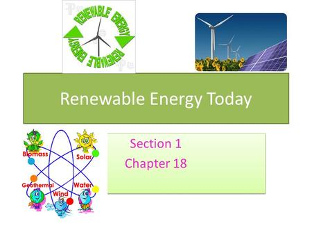 Renewable <strong>Energy</strong> Today
