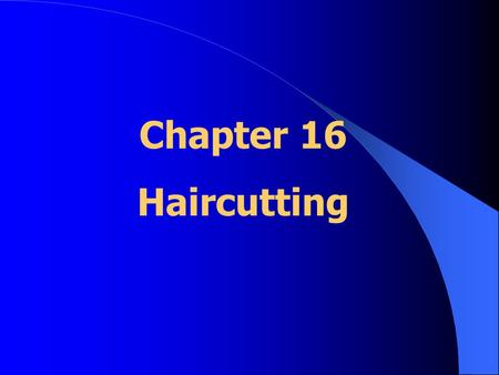 Chapter 16 Haircutting.