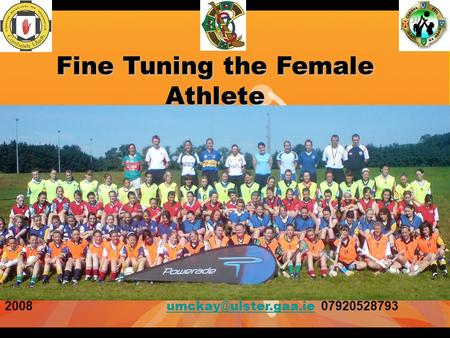 Fine Tuning the Female Athlete 2008 07920528793