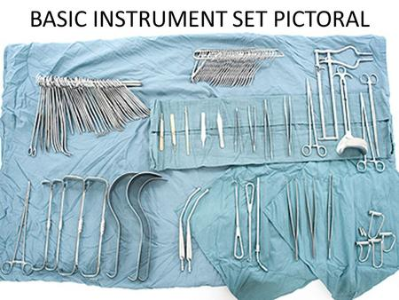 BASIC INSTRUMENT SET PICTORAL